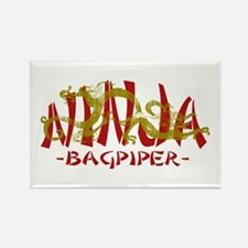 Dragon Ninja Bagpiper Rectangle Magnet