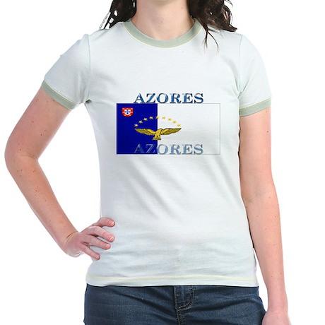 Azores Flag Jr. Ringer T-Shirt