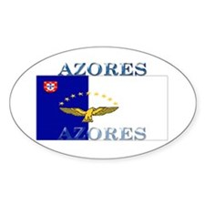 Azores Flag Oval Decal