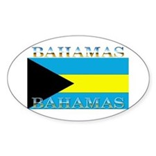 Bahamas Bahama Flag Oval Decal
