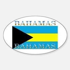 Bahamas Bahama Flag Oval Decal