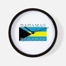 Bahamas Bahama Flag Wall Clock