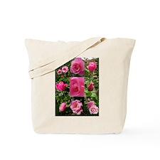 Pink Rose Montage Tote Bag