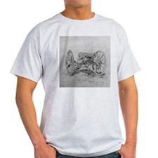 Brass 12 Pounder Ash Grey Civil War Gift T-Shirt