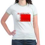 Bahrain Bahraini Flag Jr. Ringer T-Shirt