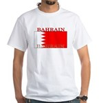 Bahrain Bahraini Flag White T-Shirt