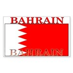 Bahrain Bahraini Flag Rectangle Sticker