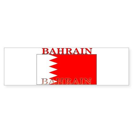 Bahrain Bahraini Flag Bumper Sticker