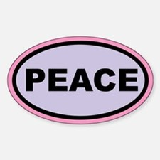 PEACE Pink/Purple Euro Oval Decal