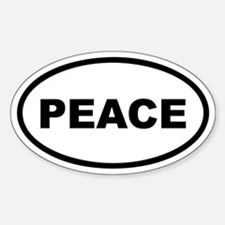 PEACE Euro Oval Decal