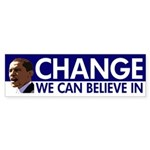 Change We Can Believe In Obama sticker