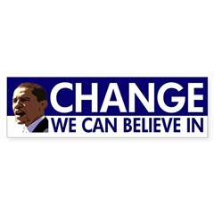 Change We Can Believe In Obama sticker