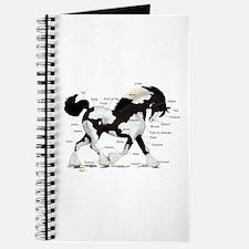 Black Gypsy Horse Anatomy Journal