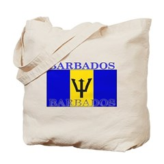 Barbados Flag Tote Bag
