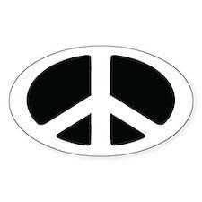 PEACE Symbol Euro Oval Bumper Stickers