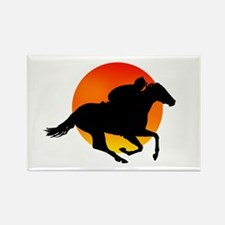 Horse Racing Rectangle Magnet (100 pack)