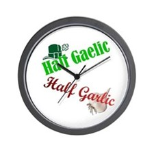 Half Gaelic Half Garlic Wall Clock