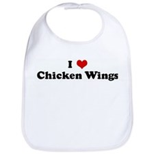 I Love Chicken Wings Bib