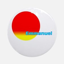 Emmanuel Ornament (Round)