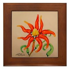 Hot Pepper Lily Framed Tile