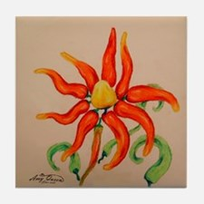 Hot Pepper Lily Tile Coaster