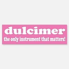 Dulcimer Bumper Car Car Sticker