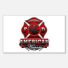 American Heroes Rectangle Decal