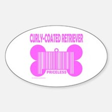CURLY-COATED RETRIEVER PRICELESS Oval Decal