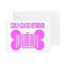 CURLY-COATED RETRIEVER PRICELESS Greeting Card
