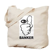 Number One Banker Tote Bag