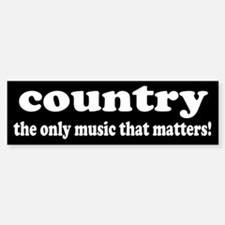 Country Music Bumper Car Car Sticker