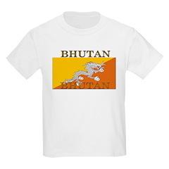 Bhutan Flag Kids T-Shirt