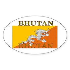 Bhutan Flag Oval Decal