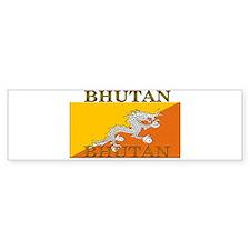 Bhutan Flag Bumper Bumper Sticker