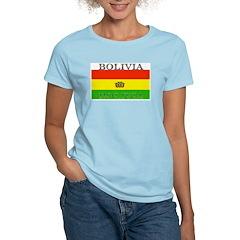 Bolivia Bolivian Flag Women's Pink T-Shirt