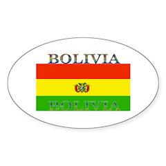 Bolivia Bolivian Flag Oval Decal