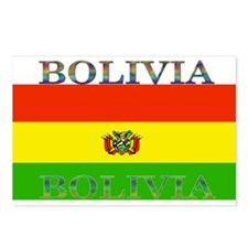 Bolivia Bolivian Flag Postcards (Package of 8)