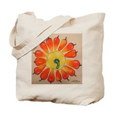 Hot Pepper Sunflower Tote Bag