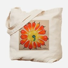Hot Pepper Sunflower Tote Bag