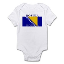 Bosnia Bosnian Herzegovina Flag Infant Creeper