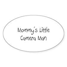 Mommy's Little Camera Man Oval Sticker