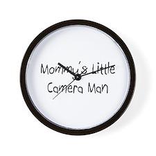 Mommy's Little Camera Man Wall Clock