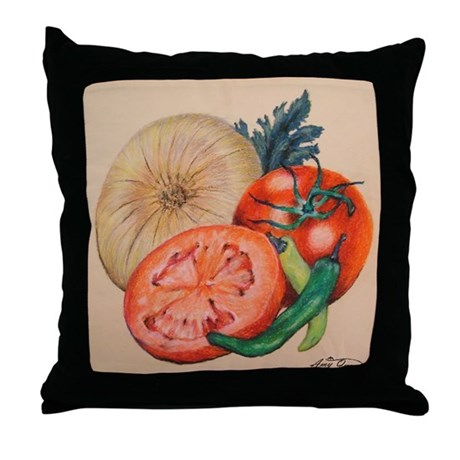 Itallian Veggies Throw Pillow