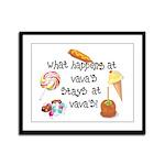 What Happens at VaVa's... Framed Panel Print