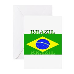 Brazil Brazilian Flag Greeting Cards (Package of