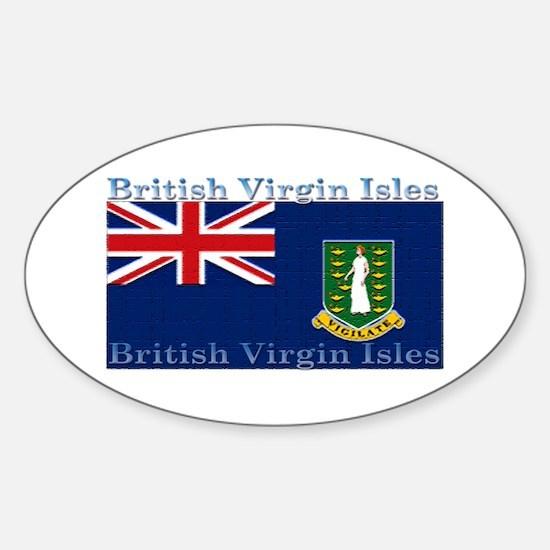 British Virgin Islands Flag Oval Decal