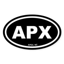 APEX, NC Black Euro Oval Decal