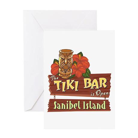 Sanibel Tiki Bar - Greeting Card