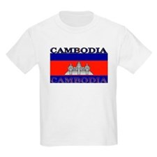 Cambodia Cambodian Flag Kids T-Shirt