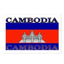 Cambodia Cambodian Flag Postcards (Package of 8)